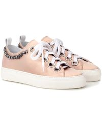 N°21 - Embellished Leather Sneakers - Lyst