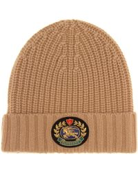 Burberry - Embroidered Crest Wool & Cashmere Beanie - - Lyst