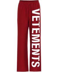 Vetements - Pantalón de chándal estampado - Lyst