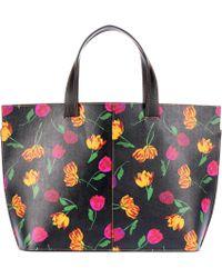Ganni - Gallery Leather Shopper - Lyst