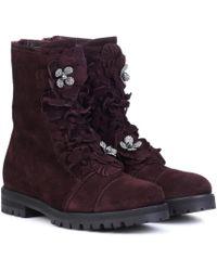 Jimmy Choo - Havana Flat Suede Boots - Lyst