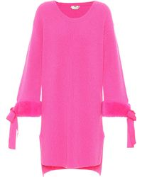 Fendi - Mink-trimmed Cashmere Sweater - Lyst