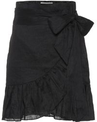 Étoile Isabel Marant - Minifalda de lino con volantes - Lyst