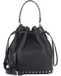 Valentino   Garavani Leather Bucket Bag   Lyst
