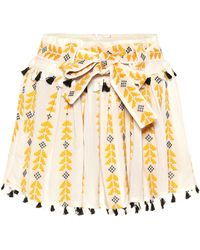Dodo Bar Or - Embroidered Cotton Shorts - Lyst