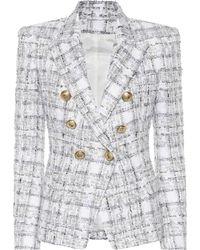 Balmain - Exclusive To Mytheresa – Double-breasted Tweed Blazer - Lyst