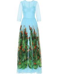 Dolce & Gabbana - Exklusiv bei Mytheresa – Seidenkleid mit Print - Lyst