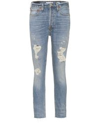 RE/DONE - High-Rise Skinny Jeans - Lyst