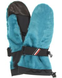 Moncler Grenoble Shearling Leather Gloves