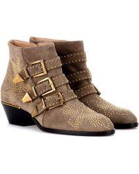 Chloé | Susanna Short Suede Ankle Boots | Lyst