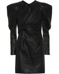 Isabel Marant - Cobe Twisted Leather Mini Dress - Lyst