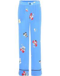 Ganni - Joycedale Printed Silk Trousers - Lyst