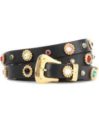 Dodo Bar Or - Crystal-embellished Leather Belt - Lyst