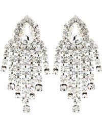 Alessandra Rich - Aretes de clip con cristales - Lyst