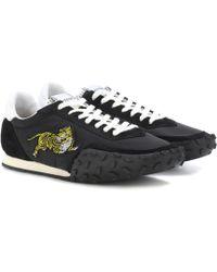 b41872d88e4 Lyst - Kenzo Platform Suede Skate Sneaker in Black