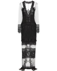 Tom Ford - Abito in pizzo macramé e tulle - Lyst