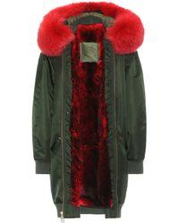 Mr & Mrs Italy - Long Bomber Fur-lined Coat - Lyst