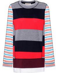 Marni - Striped Cotton-blend Top - Lyst