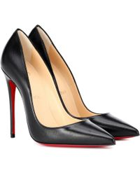 Christian Louboutin So Kate Leather 120mm Court Shoes - Black