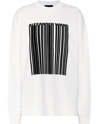 Alexander Wang - Oversized Cotton Sweatshirt - Lyst
