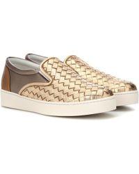 Bottega Veneta - Dodger Intrecciato Leather Sneakers - Lyst