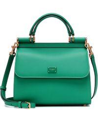 Dolce & Gabbana - Sicily Small 58 Leather Shoulder Bag - Lyst