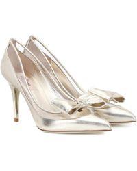 Valentino - Garavani Dollybow Leather Court Shoes - Lyst