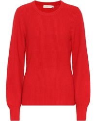 Tory Burch - Wool And Cashmere-blend Sweater - Lyst