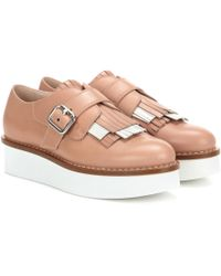 Tod's - Leather Platform Oxford Shoes - Lyst