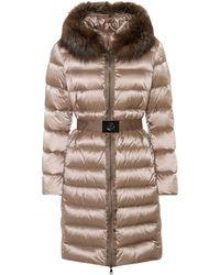 Moncler - Fur-trimmed Puffer Coat - Lyst