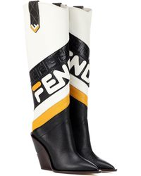 Fendi - Mania Leather Boots - Lyst