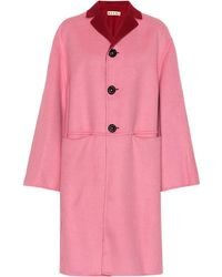 Marni - Reversible Wool And Cashmere Coat - Lyst