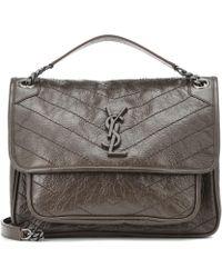 a854af628f31 Saint Laurent Université Medium Leather Cross-body Bag in Blue - Lyst