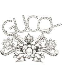 Gucci - Broche à cristaux - Lyst