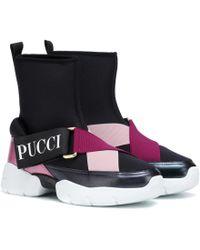 Emilio Pucci - Neoprene High-top Sneakers - Lyst