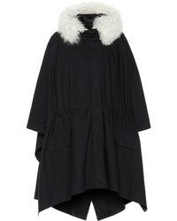 Army by Yves Salomon - Shearling-trimmed Cape Coat - Lyst