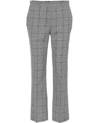 RED Valentino - Plaid Virgin Wool Trousers - Lyst