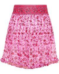 Poupette - Pippa Printed Cotton Miniskirt - Lyst
