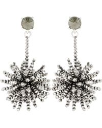 Oscar de la Renta - Crystal-embellished Beaded Earrings - Lyst