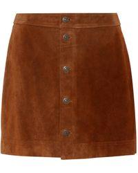 Polo Ralph Lauren - Suede Miniskirt - Lyst
