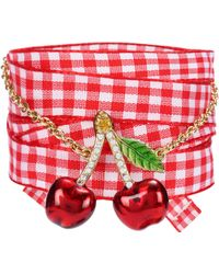 Miu Miu - Crystal-embellished Bracelet - Lyst
