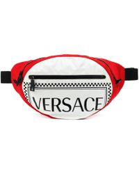 Versace - Nylon Pouch With Logo - Lyst