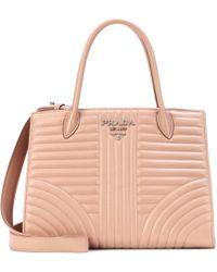 Prada - Diagramme Leather Shoulder Bag - Lyst