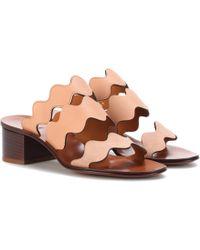 Chloé - Lauren Leather Sandals - Lyst