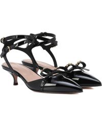 RED Valentino - Red (v) Patent Leather Slingback Pumps - Lyst