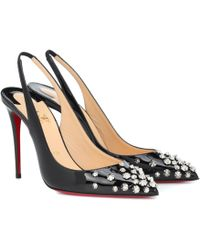 bac8104b37f Christian Louboutin 17th Floor 55 Patent Leather Pumps in Black - Lyst