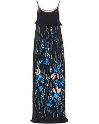 Prada - Sequined Silk Chiffon Gown - Lyst e8f09a7e86