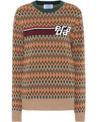 Prada - Pullover aus Kaschmir und Wolle - Lyst