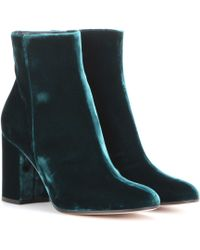 Gianvito Rossi - Rolling 85 Velvet Ankle Boots - Lyst