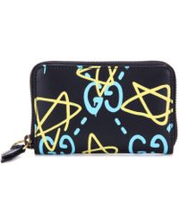 Gucci - Ghost Printed Leather Wallet - Lyst